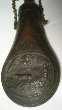 19thc English Hunting Powder Flask