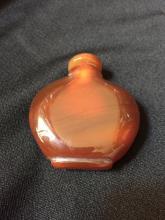 Banded Red Agate Snuff Medicine Bottle