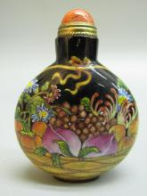 Antique Hand-Painted Enameled Snuff Bottle