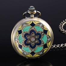 Enamel & Crystal Case Pocket Watch