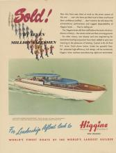 1945 Higgins Boat Builder Advertisement