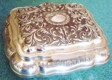 Mammoth Silver Plated Jewel Box