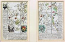 Early 18thc Engraved Maps, Road to London