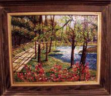 Roy C. Nuse, American Landscape Oil on Board