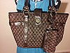 Giani Bernini Large Brown Tote Shoulder Bag Purse