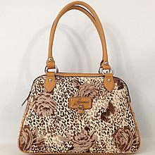 Guess Estara Brown Satchel Floral Handbag