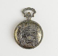 Men's Ornately Carved Pocket Watch