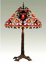 Tiffany-Inspired American Indian Lamp