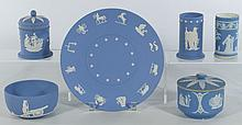 Blue Jasperware Items (6 pcs), Wedgwood B