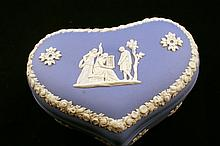 Wedgwood Jasperware Heart Shaped Trinket Box