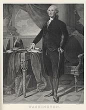 19th c. Print of Washington Portrait by G. Stuart