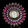 Amethyst Jeweled Desk Clock