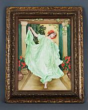 Antique French Painted Porcelain Panel