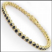 Black Sapphire Tennis Bracelet.