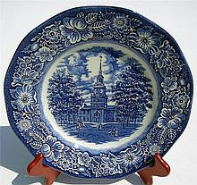 Old Staffordshire Blue Transfer Ware Plate