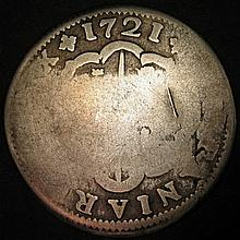 Spanish Colonial 2 Reales 1721 King Phillip