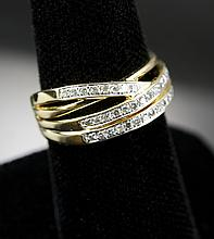 .38 Ct Women's Yellow Gold, Diamond Ring, Sz 7.