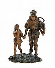 Bergman Cold Painted Medieval Bronze Figures