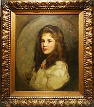 Frank Thomas COPNALL Portrait of a Girl c.1900