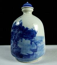 Underglaze Blue Snuff Bottle