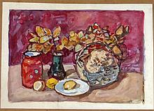 Signed Ukrainian Still Life Oil Painting