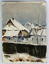 Russian, Ukrainian Landscape Oil Painting Signed