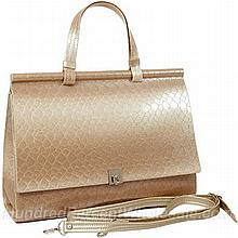 Women's Patent Leather Crocodile Design Hand Bag