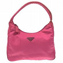 Authentic PRADA Pink Nylon Hand Bag