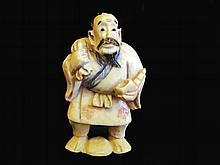 19TH C Oriental Ivory Netsuke Signed