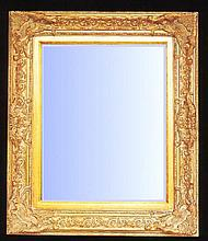 Elegant styled mirror with gold gilt swept frame