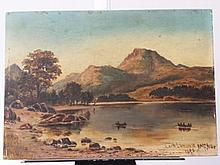 Scottish Landscape Loch Lomond Oil on Canvas