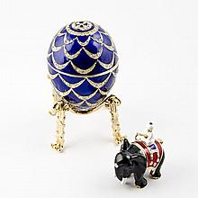 Indian Mahout Faberge Inspired Egg