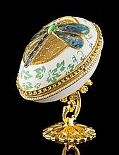 Faberge Inspired Dragon Fly Egg