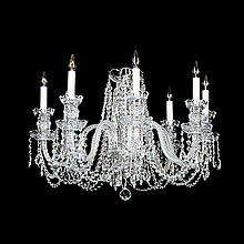 Small 8-light Crystal Swarovski Chandelier.