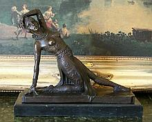 Art Deco Dancer Bronze Sculpture