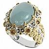 Designer Aquamarine & Chocolate Crystal Ring