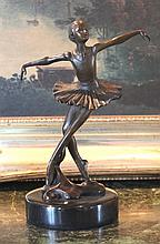 Ballerina Ballet Dancer Bronze Sculpture