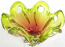 Floral Venetian Glass Bowl
