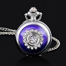 Fancy Crystal, Purple Pocket Watch