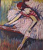 Ballerina impressionist original oil painted