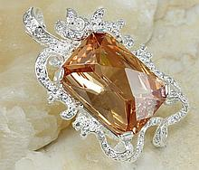 Hand Crafted Honey Facet Topaz Citrine Pendant
