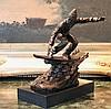 Bronze Sculpture Athlete Snow-boarder
