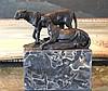 Bronze Sculpture Jaguar Pair