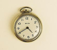 Men's Antique Bull's Eye Pocket Watch