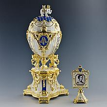 Royal Danish Faberge Inspired Egg
