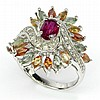 Fancy Gemstone Sterling SIlver Ring