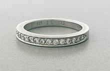 Tiffany & Co Platinum Diamond Wedding Band, Ring