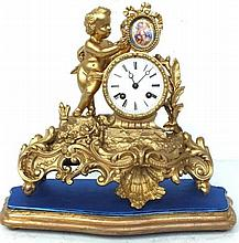 Antique French Mantle 8 Day Clock