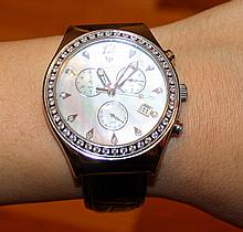 LUCIEN PICCARD MOP & Sapphire Crystal Watch