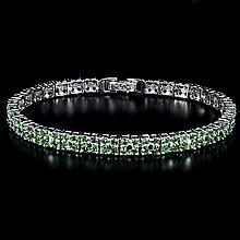 Rare Green Garnet, Sterling Silver Bracelet